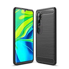 Silicone Candy Rubber TPU Line Soft Case Cover for Xiaomi Mi Note 10 Black