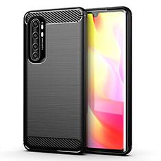 Silicone Candy Rubber TPU Line Soft Case Cover for Xiaomi Mi Note 10 Lite Black