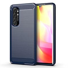 Silicone Candy Rubber TPU Line Soft Case Cover for Xiaomi Mi Note 10 Lite Blue
