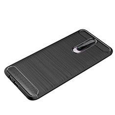 Silicone Candy Rubber TPU Line Soft Case Cover for Xiaomi Redmi K30 5G Black