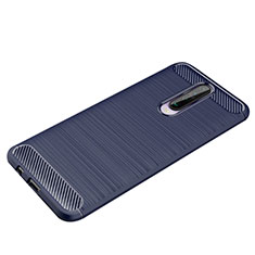 Silicone Candy Rubber TPU Line Soft Case Cover for Xiaomi Redmi K30 5G Blue