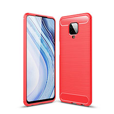 Silicone Candy Rubber TPU Line Soft Case Cover for Xiaomi Redmi Note 9S Red