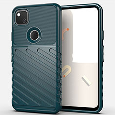 Silicone Candy Rubber TPU Line Soft Case Cover S01 for Google Pixel 4a Midnight Green