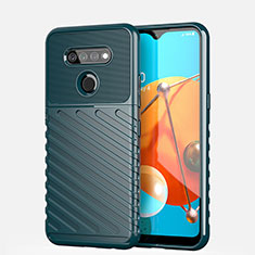 Silicone Candy Rubber TPU Line Soft Case Cover S01 for LG K51 Green