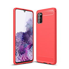 Silicone Candy Rubber TPU Line Soft Case Cover S01 for Samsung Galaxy A41 Red