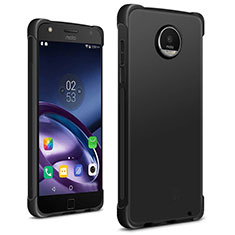 Silicone Candy Rubber TPU Soft Case for Motorola Moto Z2 Play Black