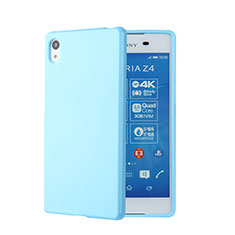 Silicone Candy Rubber TPU Soft Case for Sony Xperia Z4 Blue