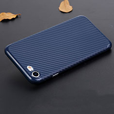 Silicone Candy Rubber TPU Twill Soft Case B02 for Apple iPhone SE (2020) Blue