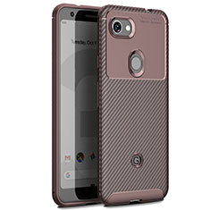 Silicone Candy Rubber TPU Twill Soft Case Cover for Google Pixel 3 XL Brown