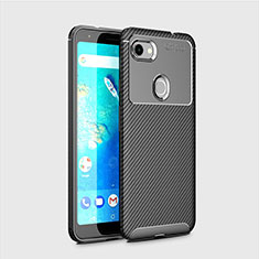Silicone Candy Rubber TPU Twill Soft Case Cover for Google Pixel 3a Black