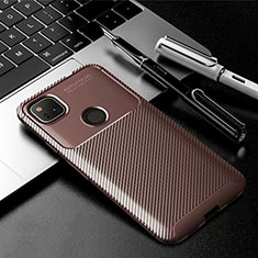 Silicone Candy Rubber TPU Twill Soft Case Cover for Google Pixel 4a Brown
