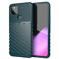 Silicone Candy Rubber TPU Twill Soft Case Cover for Google Pixel 5 XL 5G Midnight Green