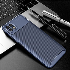 Silicone Candy Rubber TPU Twill Soft Case Cover for Huawei Enjoy 20 5G Blue