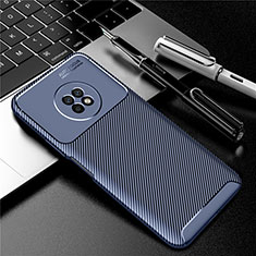 Silicone Candy Rubber TPU Twill Soft Case Cover for Huawei Enjoy 20 Plus 5G Blue