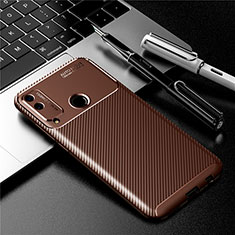 Silicone Candy Rubber TPU Twill Soft Case Cover for Huawei Honor Play4T Brown