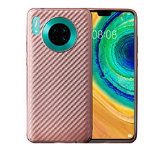 Silicone Candy Rubber TPU Twill Soft Case Cover for Huawei Mate 30 Pro 5G Rose Gold