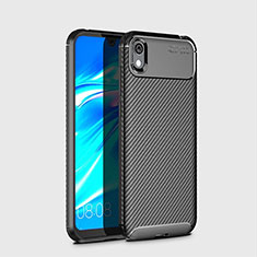 Silicone Candy Rubber TPU Twill Soft Case Cover for Huawei Y5 (2019) Black