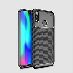 Silicone Candy Rubber TPU Twill Soft Case Cover for Huawei Y7 Pro (2019) Black