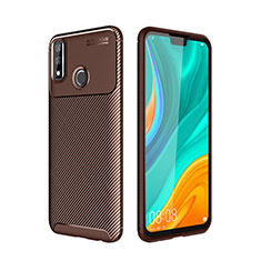 Silicone Candy Rubber TPU Twill Soft Case Cover for Huawei Y8s Brown