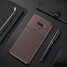 Silicone Candy Rubber TPU Twill Soft Case Cover for LG G8 ThinQ Brown