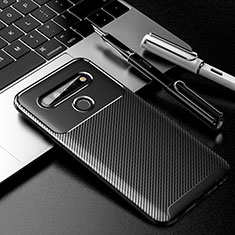Silicone Candy Rubber TPU Twill Soft Case Cover for LG K61 Black
