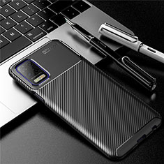 Silicone Candy Rubber TPU Twill Soft Case Cover for LG Q52 Black