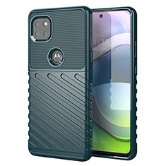 Silicone Candy Rubber TPU Twill Soft Case Cover for Motorola Moto G 5G Green