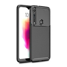 Silicone Candy Rubber TPU Twill Soft Case Cover for Motorola Moto G8 Play Black