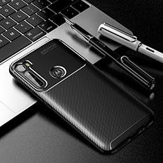 Silicone Candy Rubber TPU Twill Soft Case Cover for Motorola Moto One Fusion Plus Black