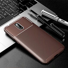 Silicone Candy Rubber TPU Twill Soft Case Cover for Nokia 2.3 Brown