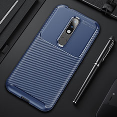 Silicone Candy Rubber TPU Twill Soft Case Cover for Nokia 4.2 Blue