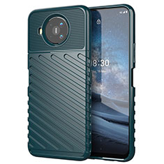 Silicone Candy Rubber TPU Twill Soft Case Cover for Nokia 8.3 5G Midnight Green