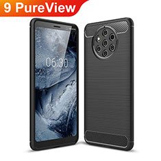 Silicone Candy Rubber TPU Twill Soft Case Cover for Nokia 9 PureView Black
