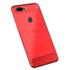 Silicone Candy Rubber TPU Twill Soft Case Cover for OnePlus 5T A5010 Red