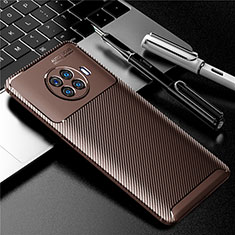 Silicone Candy Rubber TPU Twill Soft Case Cover for Oppo Ace2 Brown