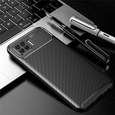 Silicone Candy Rubber TPU Twill Soft Case Cover for Oppo F17 Black