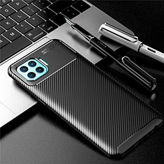 Silicone Candy Rubber TPU Twill Soft Case Cover for Oppo F17 Pro Black