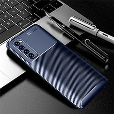 Silicone Candy Rubber TPU Twill Soft Case Cover for Oppo Reno4 Pro 4G Blue