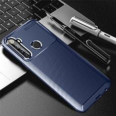 Silicone Candy Rubber TPU Twill Soft Case Cover for Realme 6i Blue