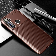 Silicone Candy Rubber TPU Twill Soft Case Cover for Realme 6i Brown