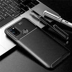 Silicone Candy Rubber TPU Twill Soft Case Cover for Realme C17 Black