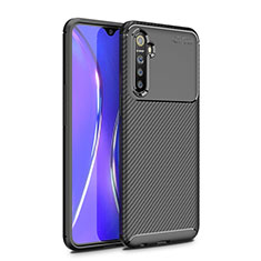 Silicone Candy Rubber TPU Twill Soft Case Cover for Realme X2 Black