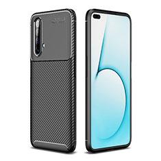 Silicone Candy Rubber TPU Twill Soft Case Cover for Realme X3 Black