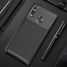 Silicone Candy Rubber TPU Twill Soft Case Cover for Samsung Galaxy A20s Black