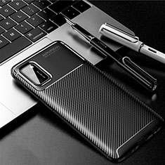 Silicone Candy Rubber TPU Twill Soft Case Cover for Samsung Galaxy A41 Black