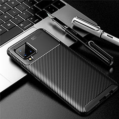 Silicone Candy Rubber TPU Twill Soft Case Cover for Samsung Galaxy A42 5G Black