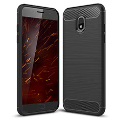 Silicone Candy Rubber TPU Twill Soft Case Cover for Samsung Galaxy J3 Star Black