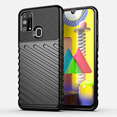 Silicone Candy Rubber TPU Twill Soft Case Cover for Samsung Galaxy M21s Black