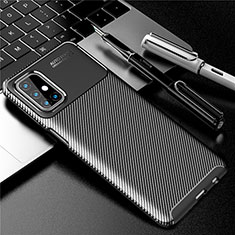 Silicone Candy Rubber TPU Twill Soft Case Cover for Samsung Galaxy M31s Black