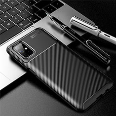 Silicone Candy Rubber TPU Twill Soft Case Cover for Samsung Galaxy M51 Black
